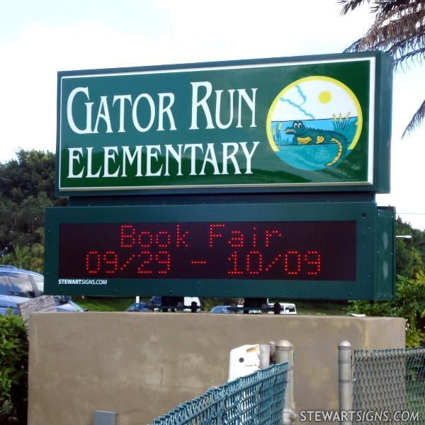 school_sign_gator_run_elementary_1274