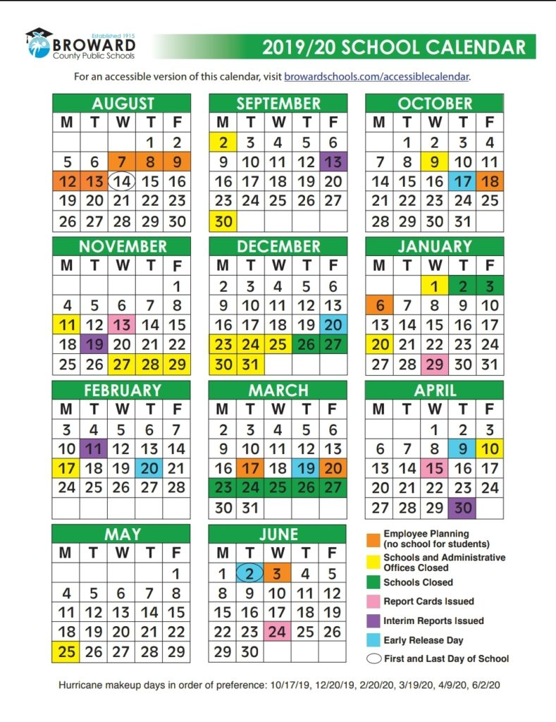 Calendario Escolar 2020 Miami Dade.Calendario Escolar 2019 2020 Vivir Weston